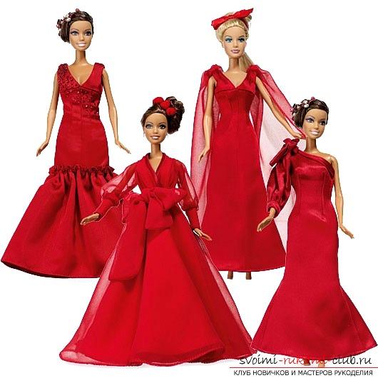 Выкройка пышных платьев для кукол