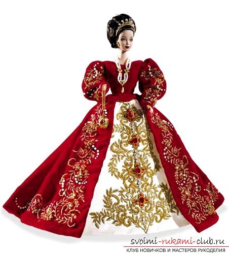 Как сделать из платка платье куклам