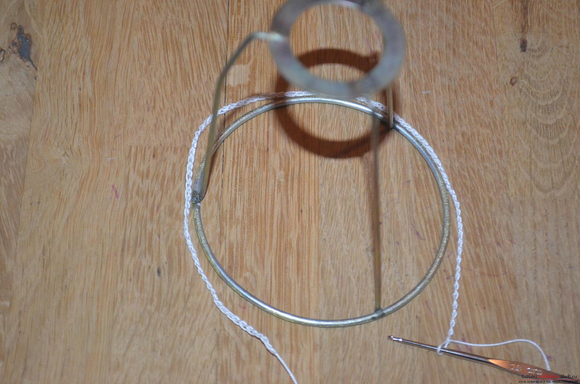 вязаные абажуры люстры крючком со схемами