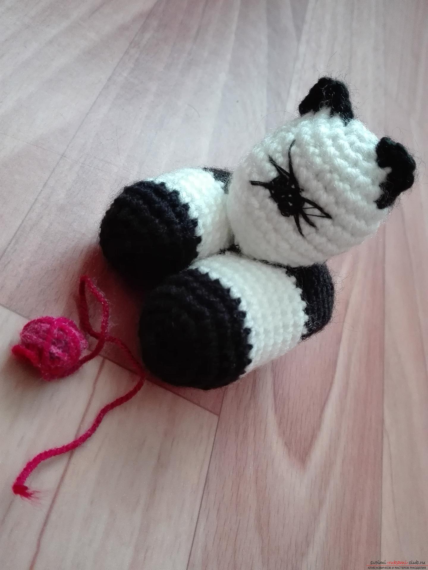 Мастер-класс вязания игрушки научит даже начинающих как связать крючком милого котенка.. Фото №1