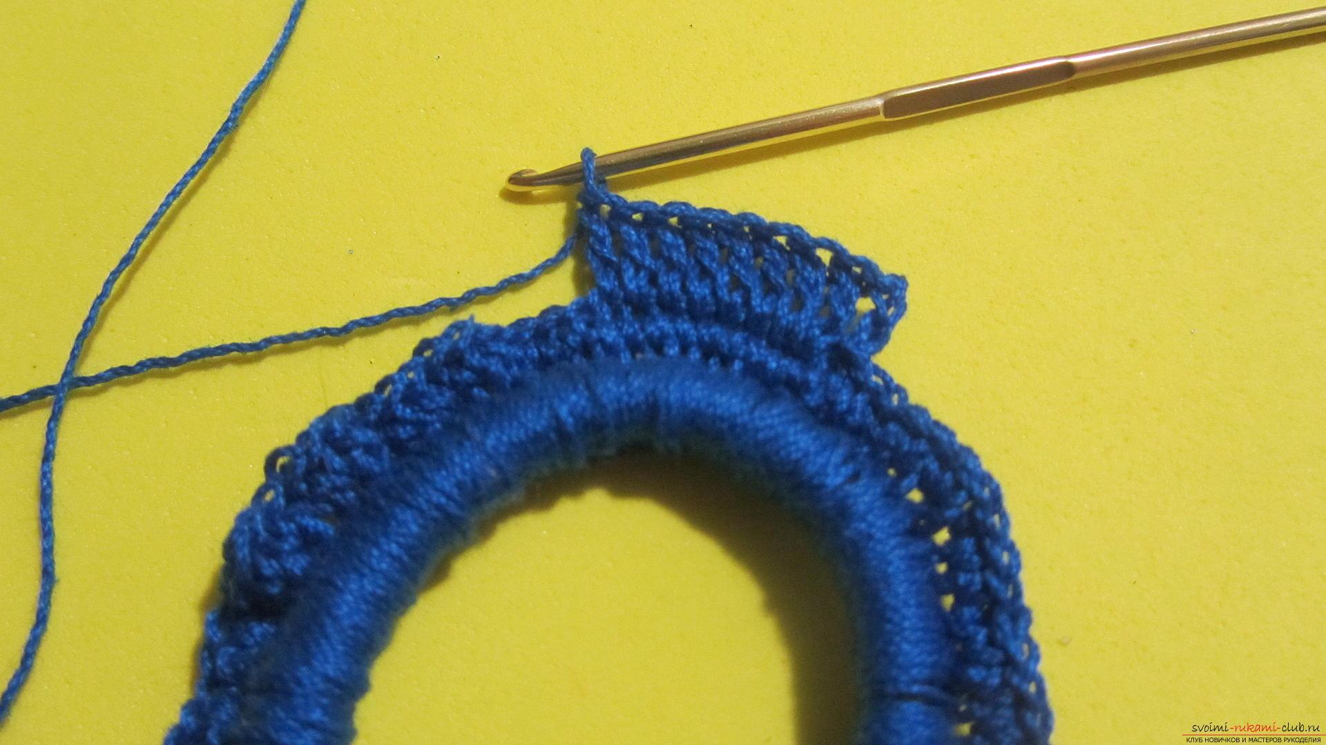 Как связать резинку крючком - Вязание крючком 14