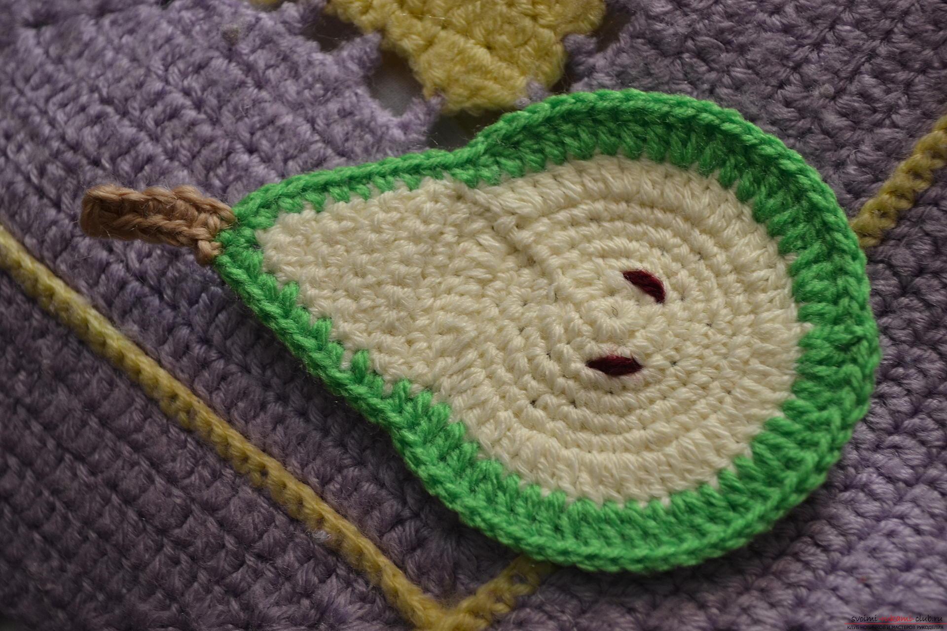Вязание крючком яблочки 99