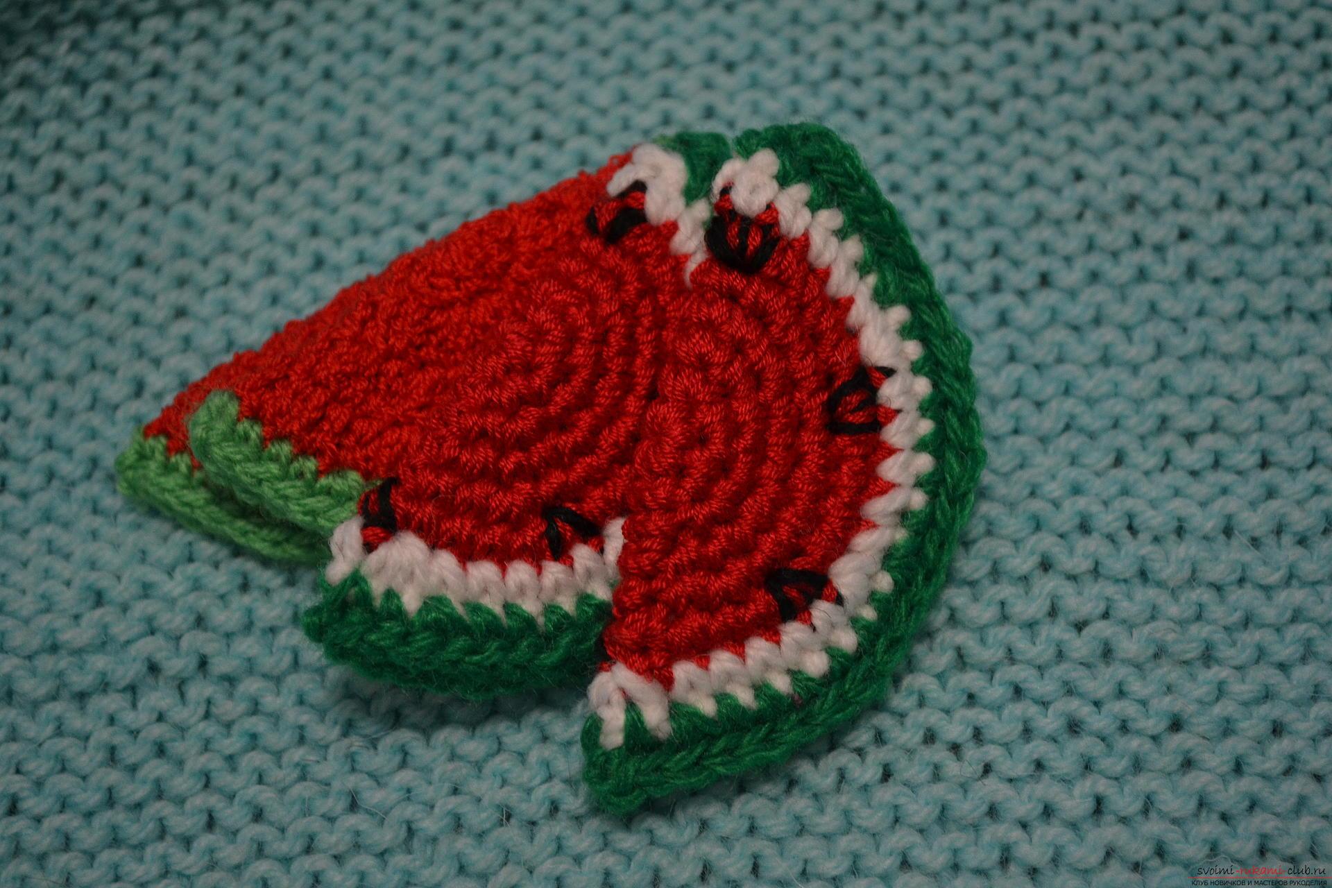 Для тех, кому хоть немного знакомо вязание крючком, предлагаем наш мастер-класс, который научит как создать с помощью крючка вязаные фрукты.. Фото №10