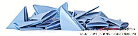 модульное оригами лебедя. Фото №20