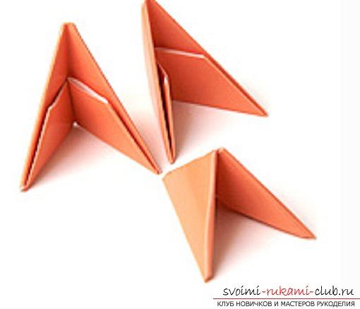 модульное оригами лебедя. Фото №22