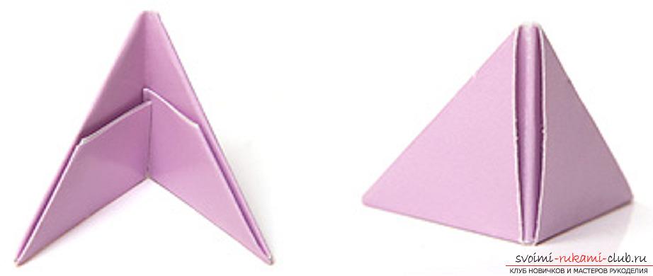модульное оригами лебедя. Фото №12