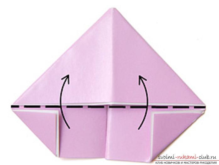 модульное оригами лебедя. Фото №10