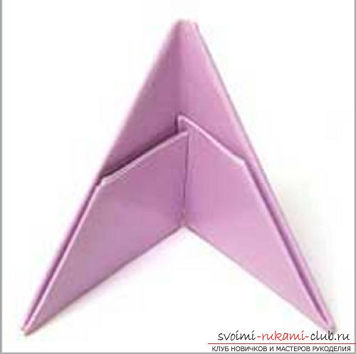 модульное оригами лебедя. Фото №2