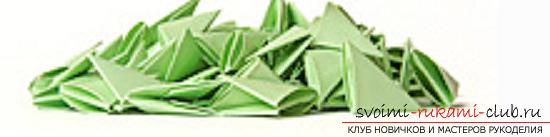 модульное оригами лебедя. Фото №18