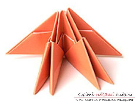 модульное оригами лебедя. Фото №24