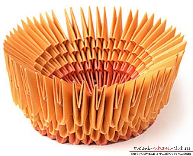 модульное оригами лебедя. Фото №28