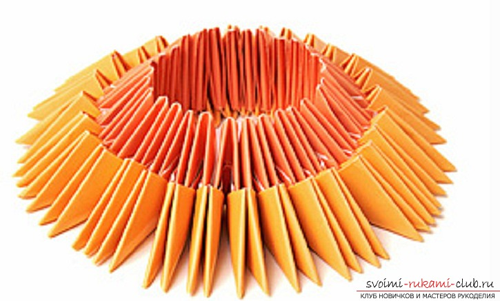 модульное оригами лебедя. Фото №26