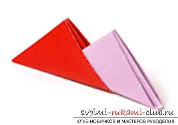 модульное оригами лебедя. Фото №37