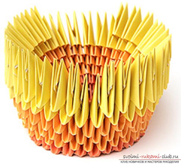 модульное оригами лебедя. Фото №31