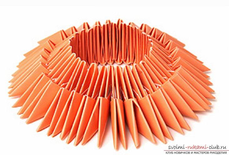 модульное оригами лебедя. Фото №25