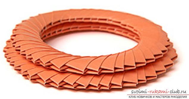 модульное оригами лебедя. Фото №41