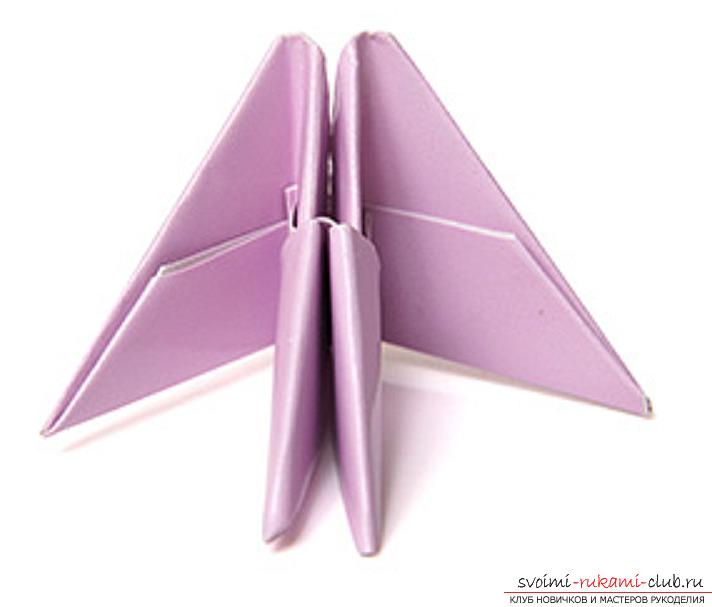 модульное оригами лебедя. Фото №13