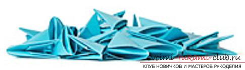 модульное оригами лебедя. Фото №19