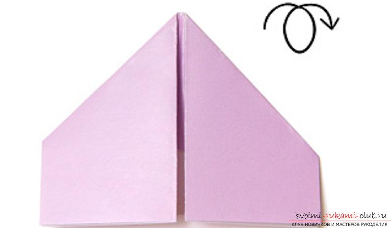 модульное оригами лебедя. Фото №8