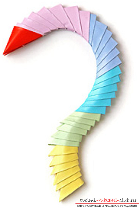 модульное оригами лебедя. Фото №39