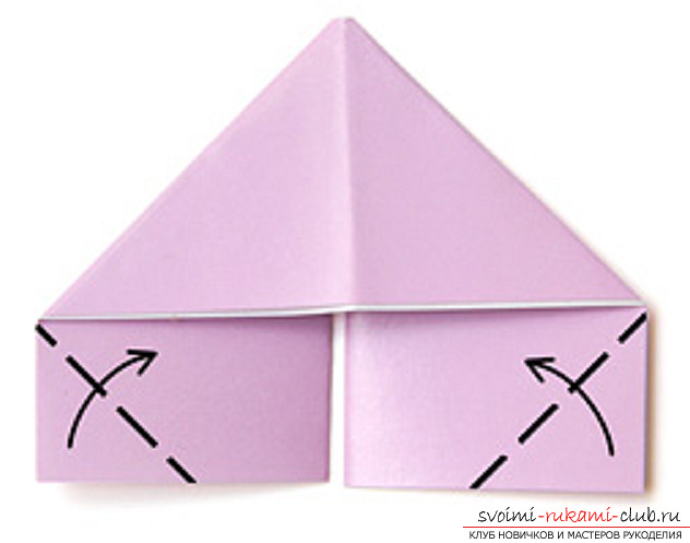 модульное оригами лебедя. Фото №9