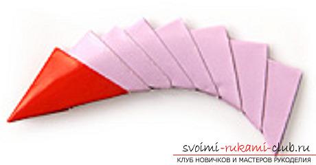 модульное оригами лебедя. Фото №38