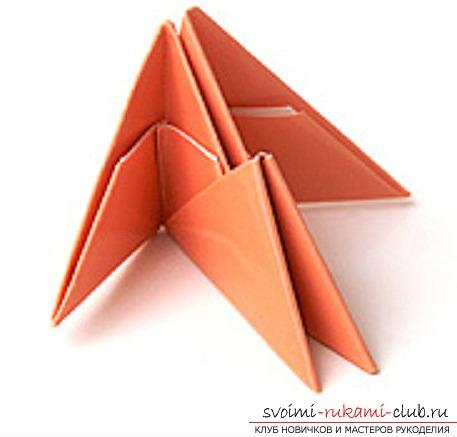 модульное оригами лебедя. Фото №23