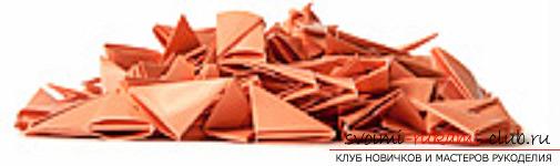 модульное оригами лебедя. Фото №15