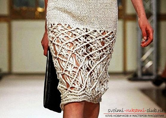 Зимние юбки вязаные на спицах