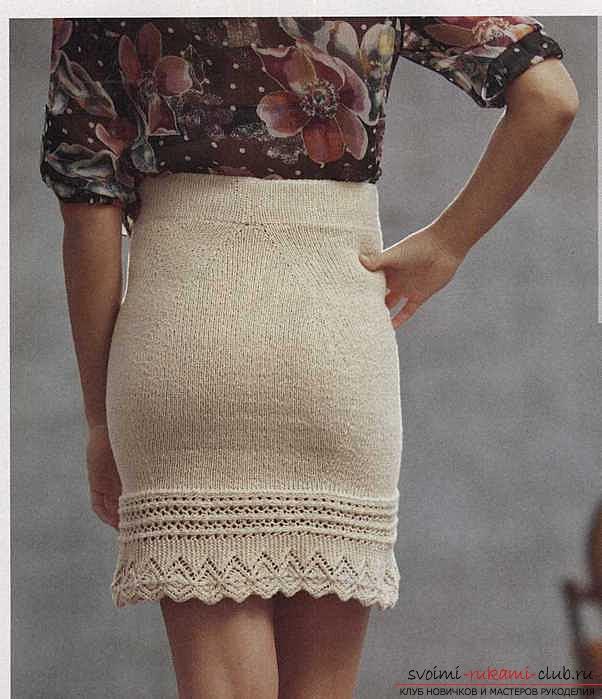Связать самой спицами юбку