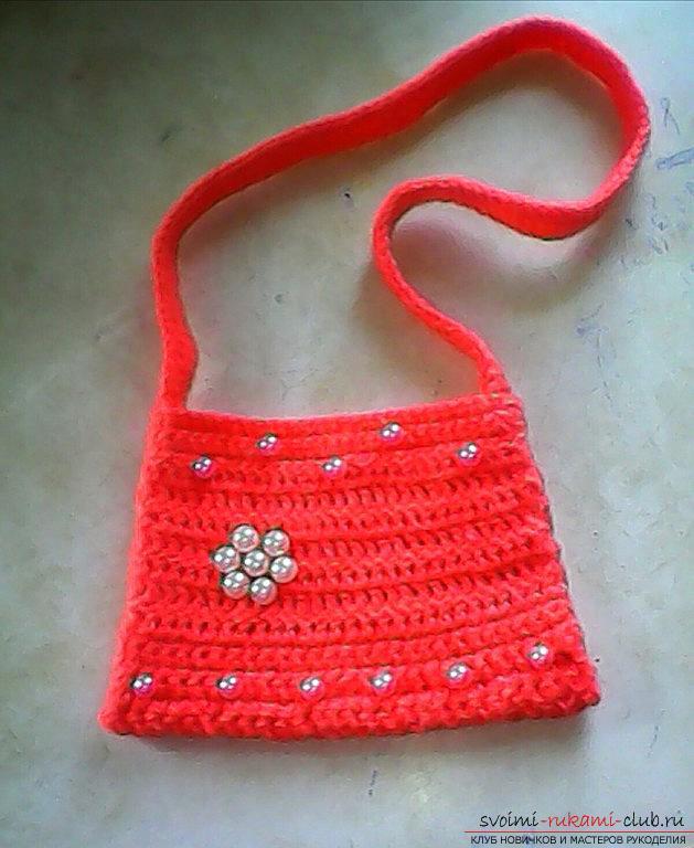 Вязание крючком сумочки для девочек видео уроки