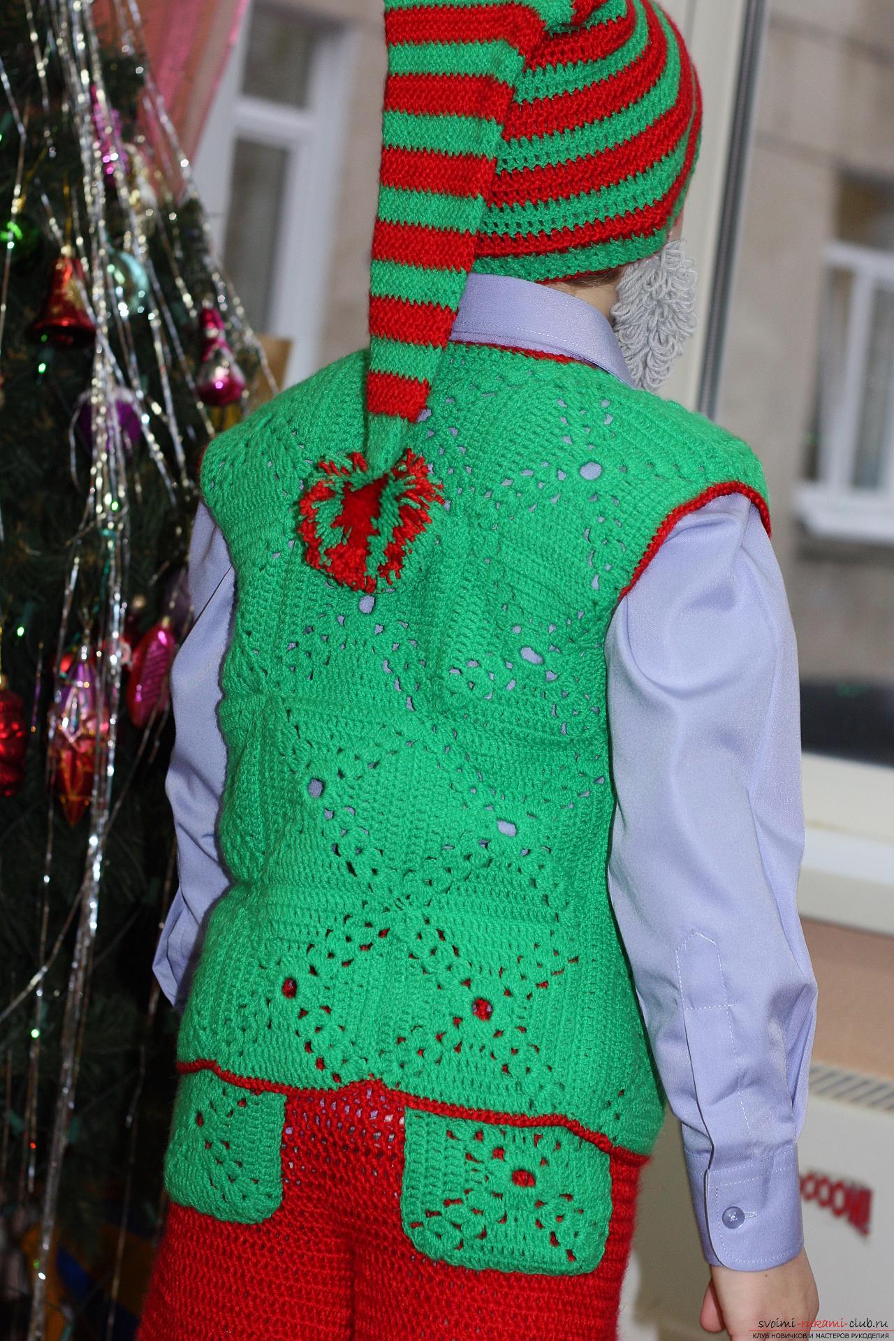 """Карнавальный костюм для мальчика""""Гномик"""" - вязание крючком ... - photo#18"""