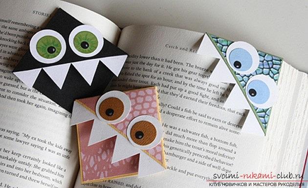 Креативные закладки из бумаги своими руками