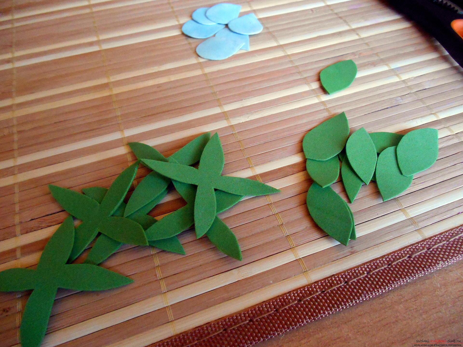 Листья из фоамирана : как сделать без молда? Мастер-класс из фоамирана 49