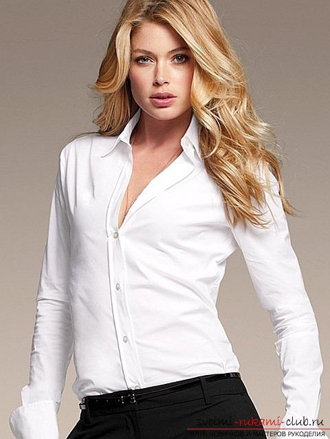 Руководство как сделать своими руками оригинальную женскую рубашку. Фото №1