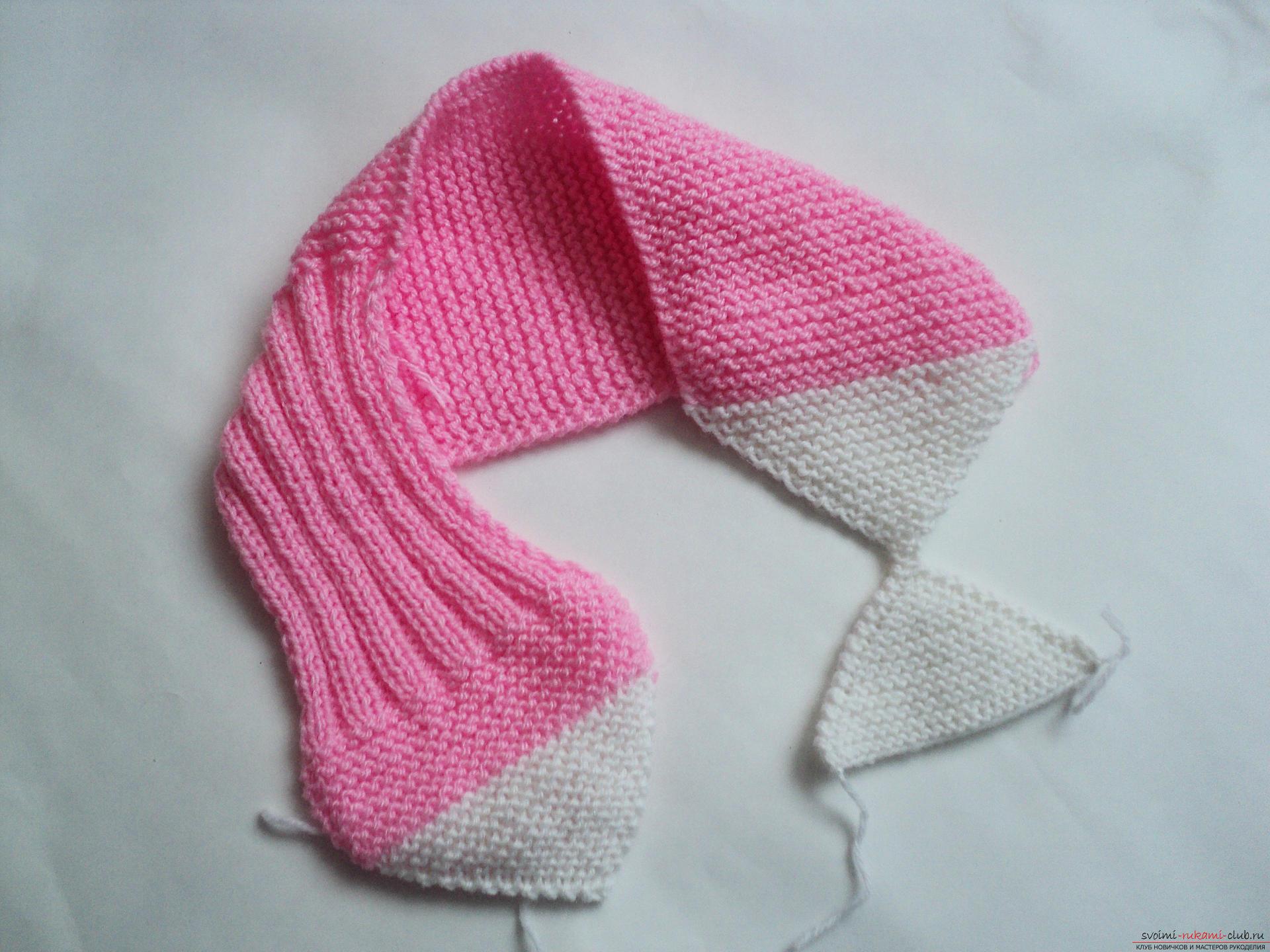 Вязание спицами детский шарф фото