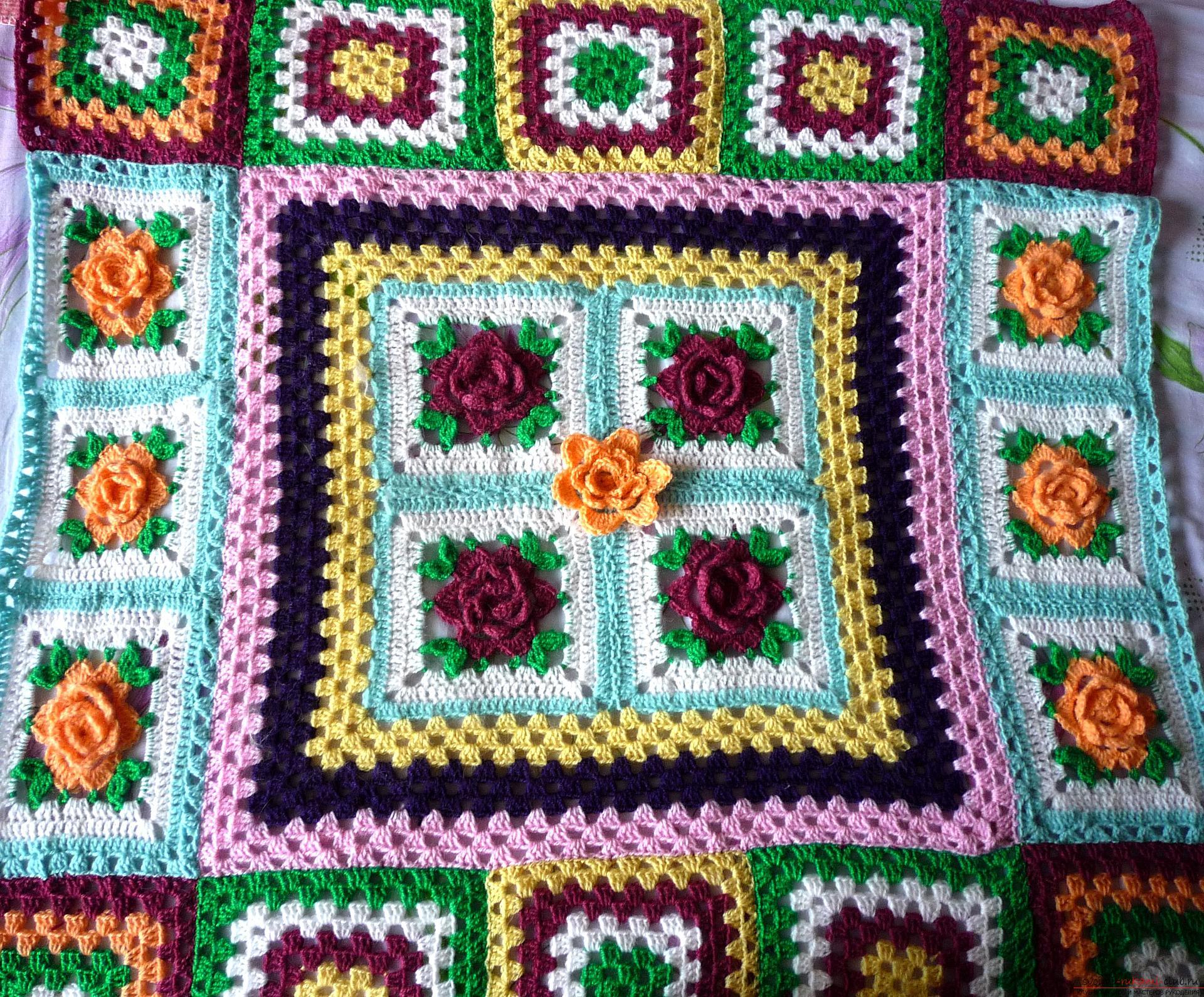 Данный мастер-класс вязания крючком содержит схему цветов ...