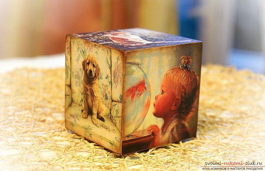 Подарок мужу из кубиков с семейными фотографиями своими руками