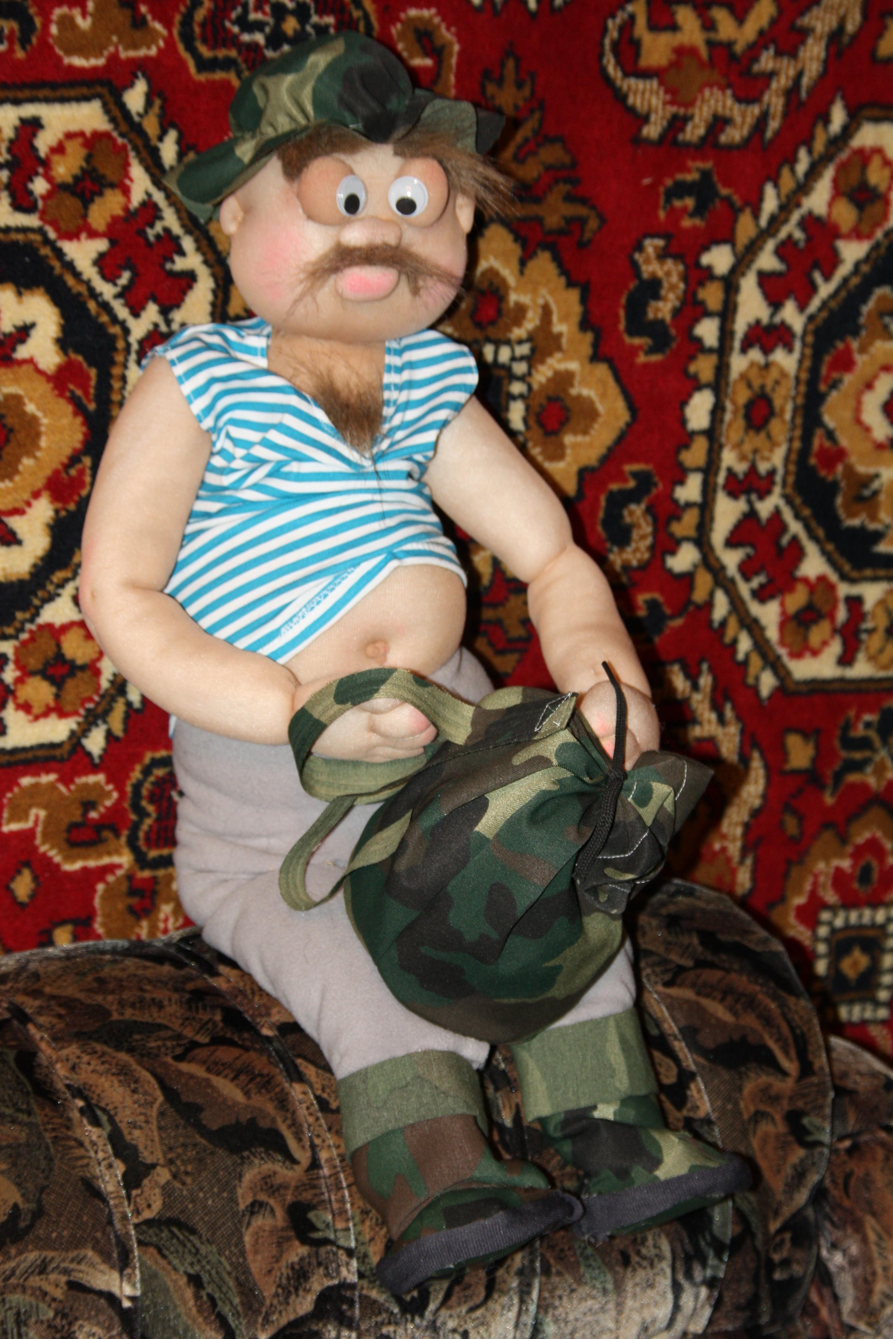 Необычная кукла: Веселый рыбак, куклы своими руками