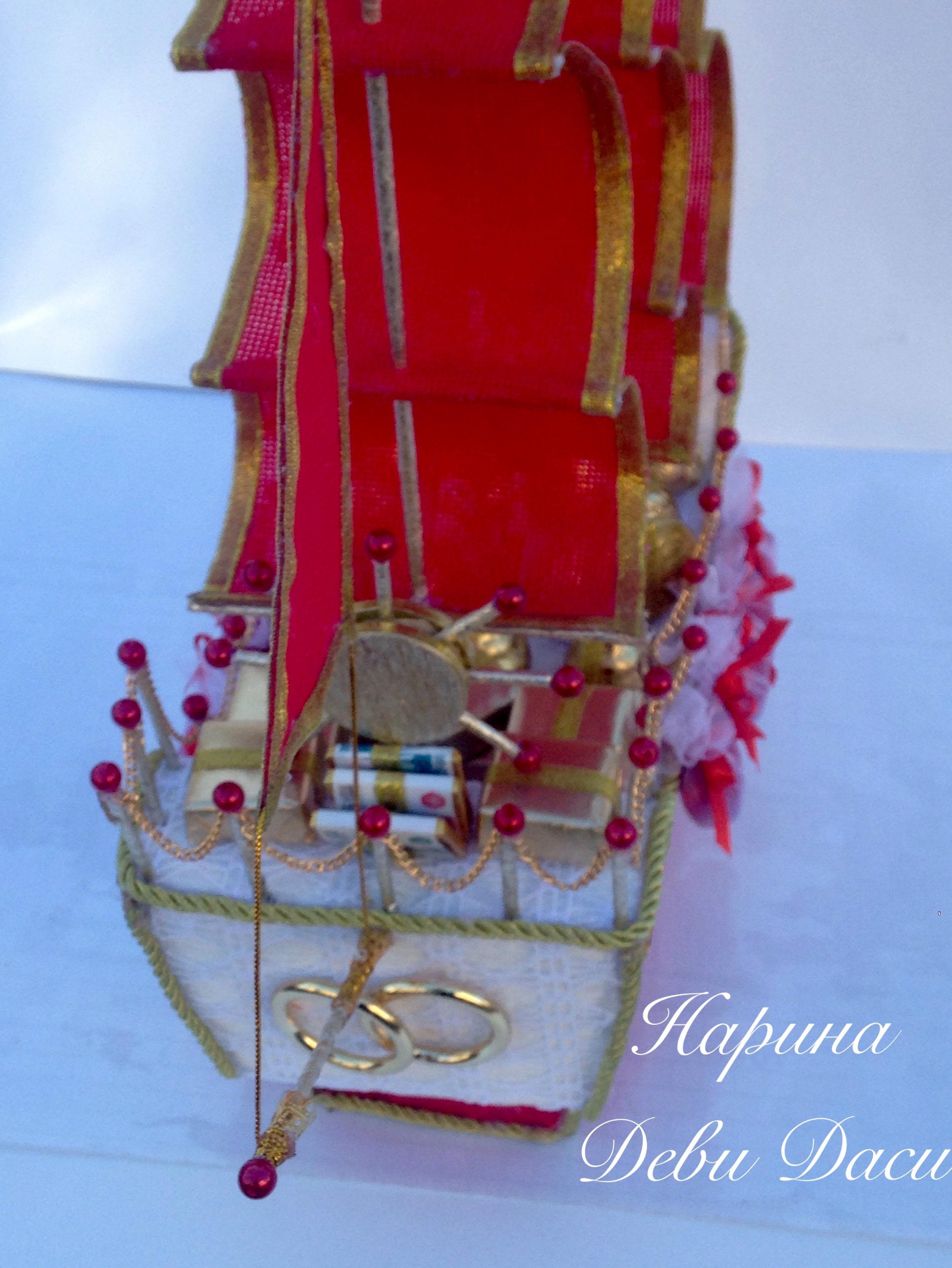 Своими руками парус для корабля с конфетами 61