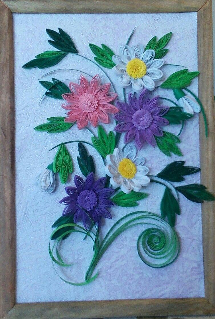 Букет цветов квиллинг своими руками 427