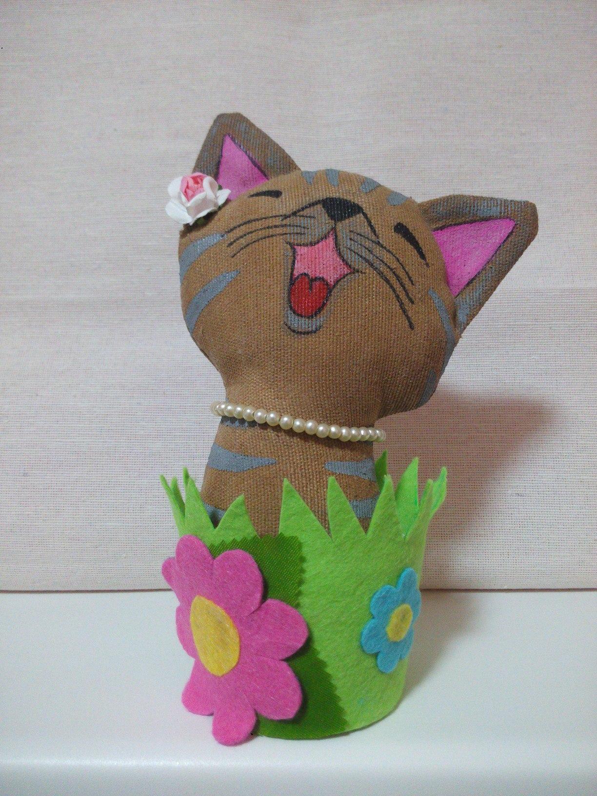 Кот своими руками из носка фото