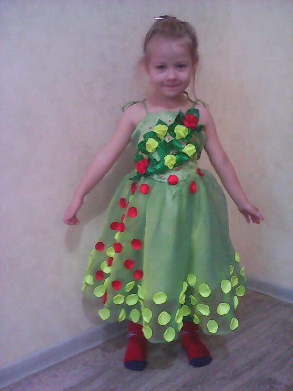 Платье из лепестков роз своими руками 66