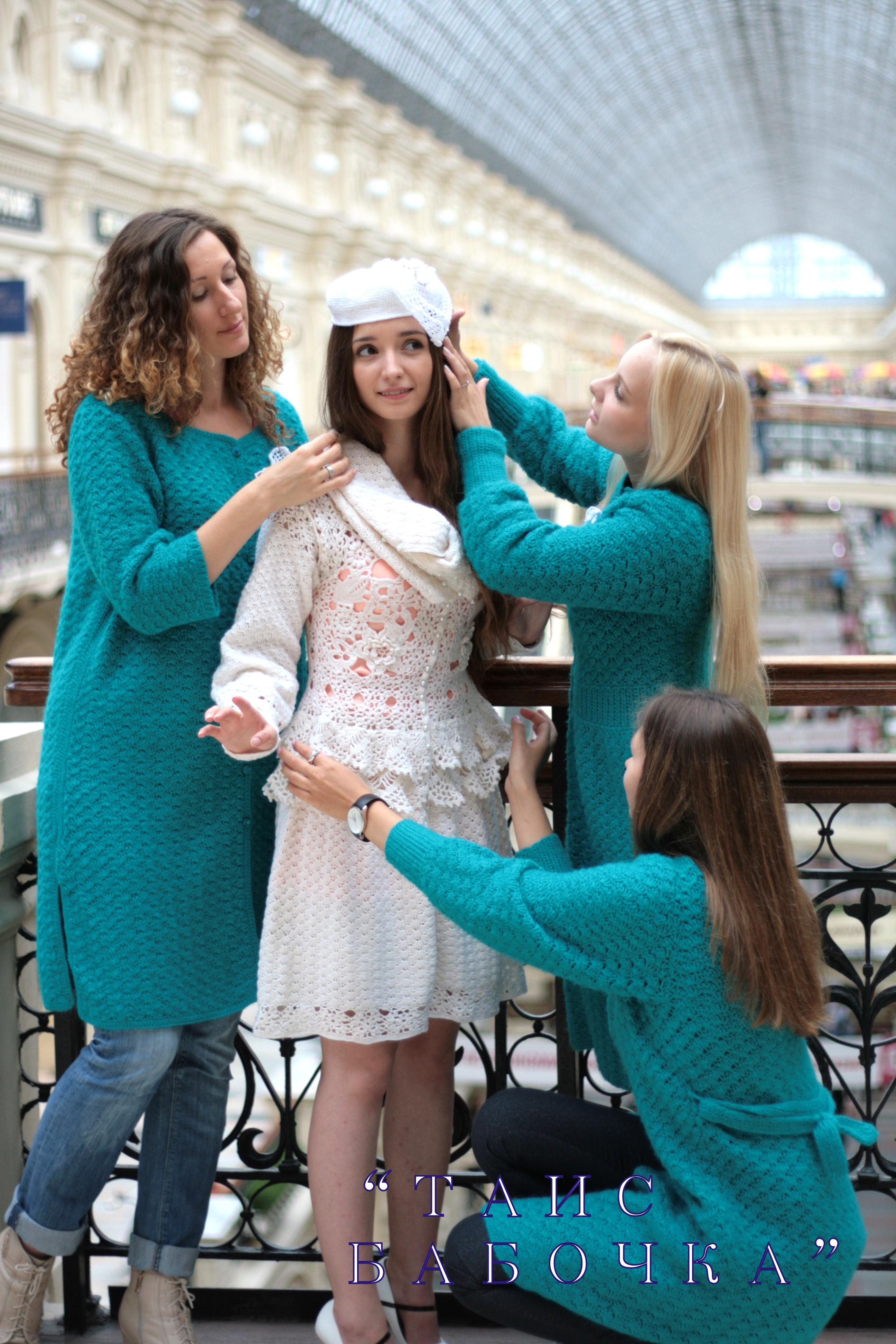 вязание крючком платья видео схемы
