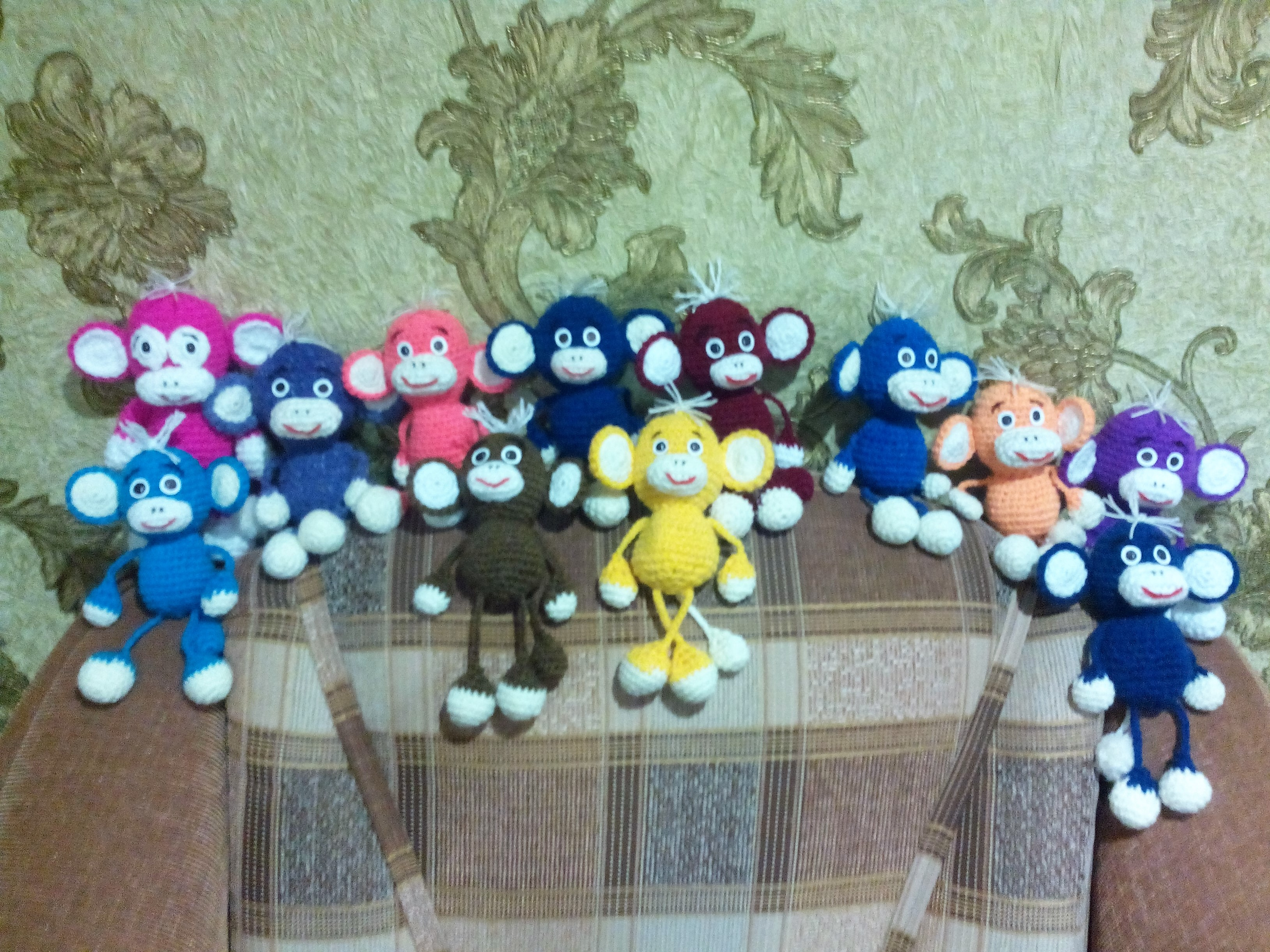 Амигуруми: Весёлые обезьянки. Фото №1