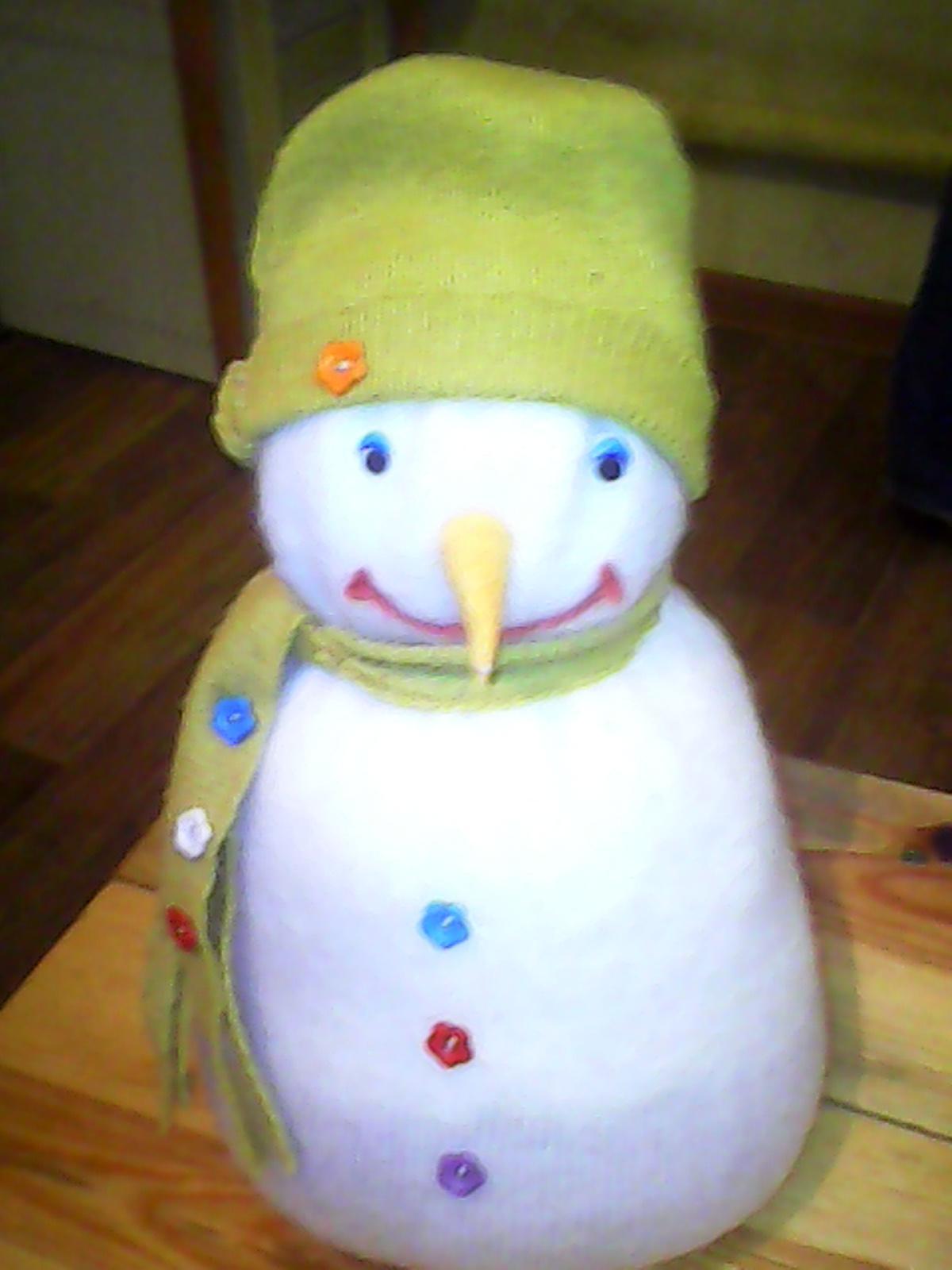 Фото снеговик поделка своими руками