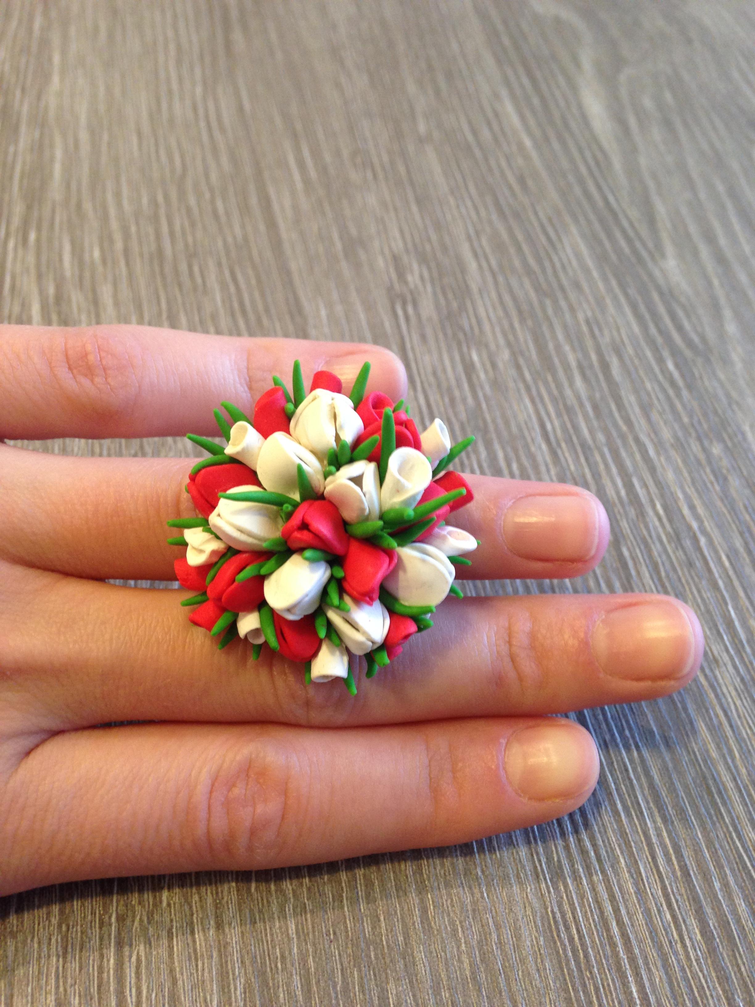 Тюльпаны из полимерной глины. Фото №3