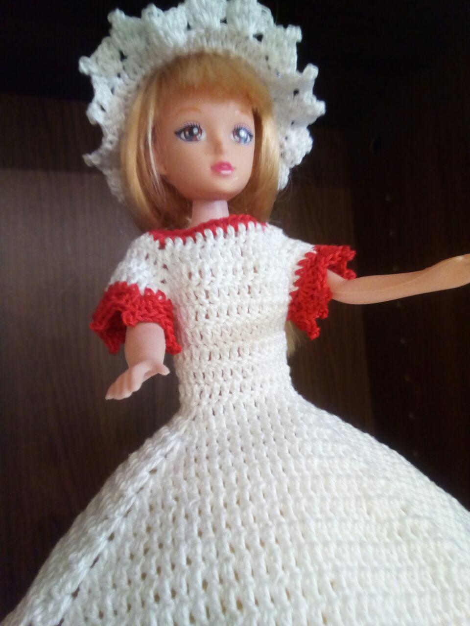 платье куколка крючком схема