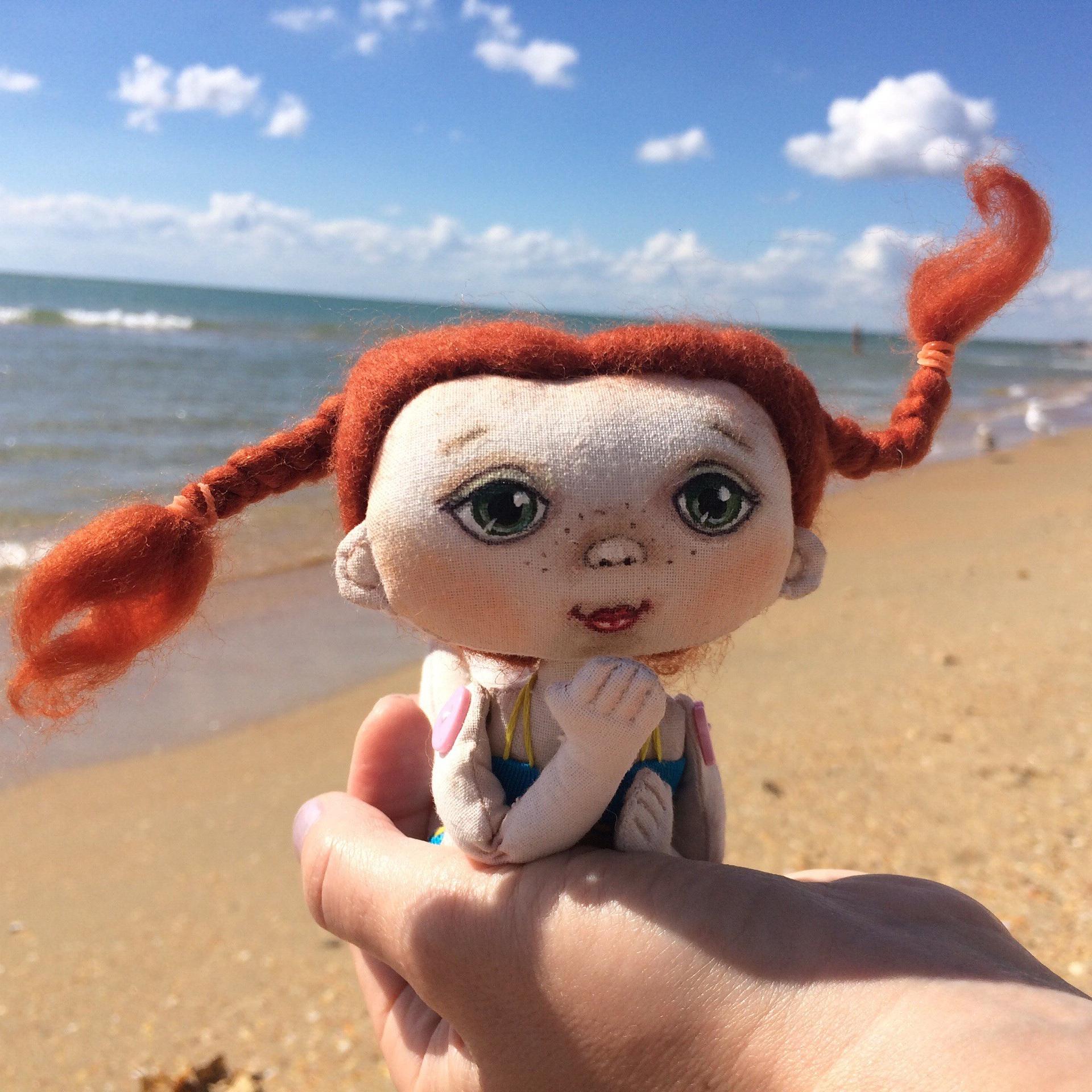Текстильная куколка: Пляжная красавица, куклы своими руками