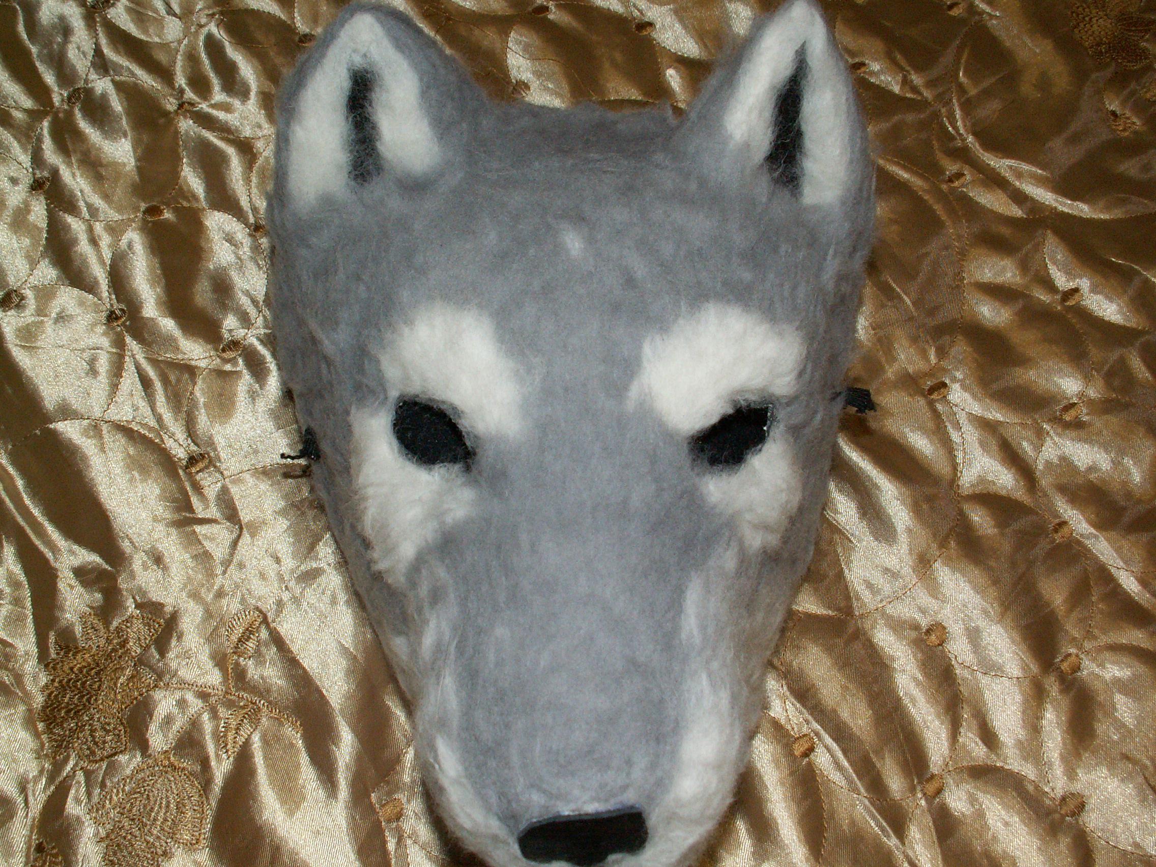 Как сделать маску волка из бумаги и картона СПРОСИ, КАК 69